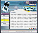 Racing Blue Website Template