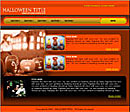 Orange Halloween Web Template